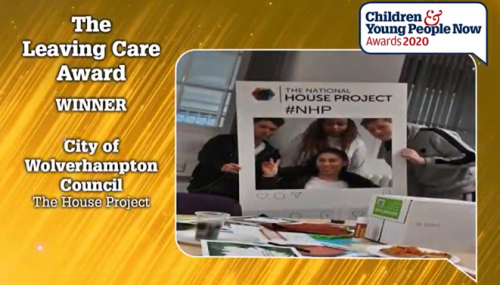 Wolverhampton House Project wins at Children & Young People Now Awards