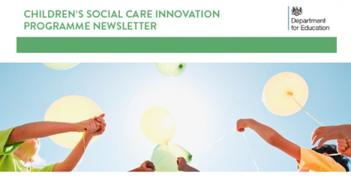 NHP feature in Children's Social Care Innovation Programme Newsletter